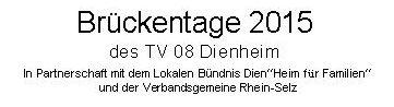 Flyer Brückentag 15.05. & 05.06.2015 Banner