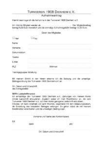 Aufnahmeantrag TV Dienheim - Seite 1